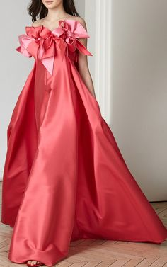 Strapless Bow Detail Gown by Alexis Mabille
