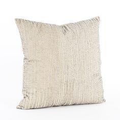 Found it at Wayfair - Silver Beaded Cotton Throw Pillow