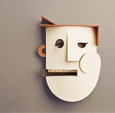 cartoncino colorato canson, cartone accoppiato, meteriali di recupero. cm 41,5×41,5 Masquerade, Artists, Masquerades