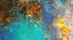 Detail from new work. Oil and mixed media on wood panel. Abstract Art.