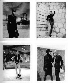 Thierry Mugler, Monte Carlo, 1998 / Yves Saint Laurent, Paris 1991/ Wolford, Monte Carlo, 1997 /Thierry Mugler, Monte Carlo, 1998  - Helmut NewtonPolaroids