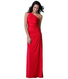 Adrianna Papell One-Shoulder Shirred Gown, Dillard's $148.00