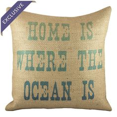 Handmade burlap throw pillow with a beach-themed saying.   Product: PillowConstruction Material: Burlap cover...