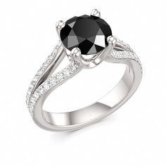Hey, I found this really awesome Etsy listing at http://www.etsy.com/listing/118696248/black-diamond-engagement-ring-with