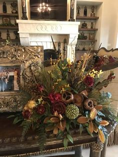 luxury home accents Old_world_decor-beautiful_floral_arrangements-table_top_decor-silk_florals-luxury_home_decor Luxury Home Decor, Home Decor Trends, Luxury Homes, Sofa Table Decor, Table Decorations, World Decor, Diy Home Accessories, Tuscan House, Mediterranean Home Decor