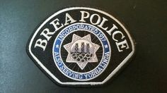 Brea/Yorba Linda Police Patch, Orange County, California (Vintage 2009-2013 Issue)
