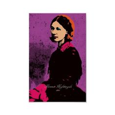 Florence Nightingale with Pop Art Posters ($9) ❤ liked on Polyvore featuring home, home decor, wall art and pop art