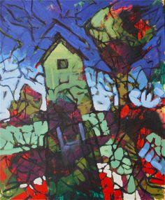 """William Barnhart, 'The Farmer's House,' Original Oil on Canvas, 51"""" x 42"""".  Come see it in person at Mirada Fine Art."""