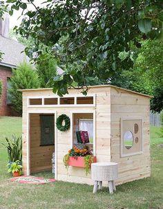 194 best kids playhouse plans images backyard playground play rh pinterest com