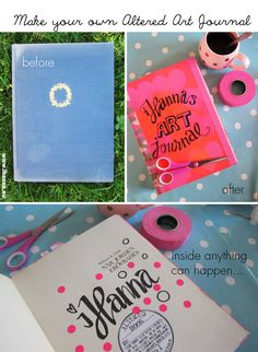 Altered Book Art - the Before and after of my art journal, by iHanna…