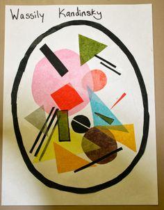 Wassily Kandinsky inspired art project w/ tissue paper Cells activity Kindergarten Art Projects, School Art Projects, Wassily Kandinsky, Kandinsky For Kids, Montessori Art, 4th Grade Art, Ecole Art, Art Lessons Elementary, Preschool Art