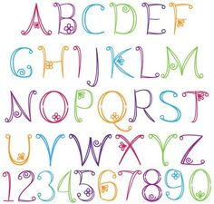 Embroidery Pattern of Alphabet Upper Case and Numbers Image Only Unknown Source. jwt