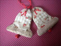 Fabric Christmas ornaments Christmas Bells by HandmadebyMGB, $8.00