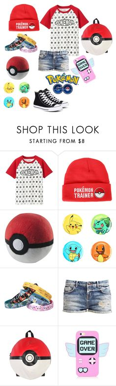 """""""Pokémon Go"""" by the-mighty-fail ❤ liked on Polyvore featuring Uniqlo, Loungefly, Nintendo and Converse"""
