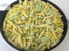 CHICKEN WITH PENNE & PESTO Apple Pie, Pasta Recipes, Pasta Salad, Main Dishes, Food And Drink, Chicken, Ethnic Recipes, Art Nouveau