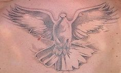 Just like a wide winged dove Full Neck Tattoos, Back Tats, Pocket Watch Tattoos, Dove Tattoos, Tattoo Addiction, In Memory Of Dad, Church Banners, Inked Shop, Tattoo Sketches