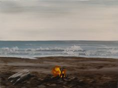 Fireside Beach Step by Step Acrylic Painting on Canvas for Beginners
