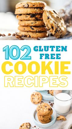 If you need gluten-free cookies, here are 102 recipes to try! You'll never run out of ideas. Simple Recipes, Great Recipes, Favorite Recipes, Gluten Free Cookie Recipes, Gluten Free Cookies, Learn To Cook, Food To Make, Recipe Boards, Recipes For Beginners