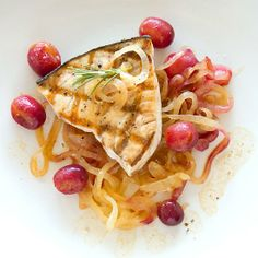 Don't be afraid to grill fish. I have a few tips and a great Grilled Swordfish with Sautéed Grapes and Sweet Onions to share.