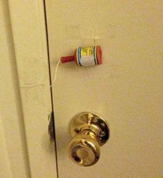 Affix a party popper to your kids bedroom door.   31 Awesome April Fools Day Pranks Your Kids Will Totally Fall For