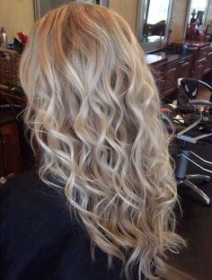 Loose Beachy Waves Hair Perm