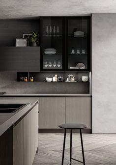 Modern Home Decor Kitchen 2019 on Behance.Modern Home Decor Kitchen 2019 on Behance Kitchen Room Design, Modern Kitchen Design, Interior Design Kitchen, Kitchen Decor, Kitchen Ideas, Minimal Kitchen, New Kitchen, Cozy Kitchen, Interior Modern