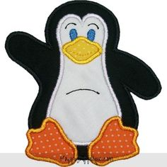 Penguin Applique Design