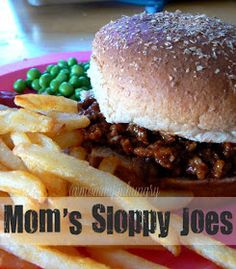 MIH Recipe Blog: Mom's Sloppy Joes