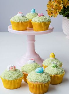 Jordan Almond and Jelly Bean Easter Cupcake Critters