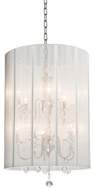 Artcraft Claremont White Nickel 20-Inch-W Foyer Chandelier - #EUH2922 - Euro Style Lighting