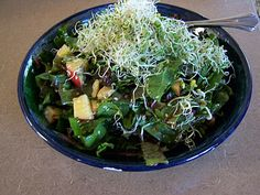 Raw Swiss chard salad with maple-dijon dressing.    I think maple syrup and dijon mustard are a marriage made in heaven.