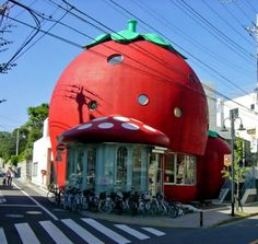 haha would you want to live inside a giant strawberry??