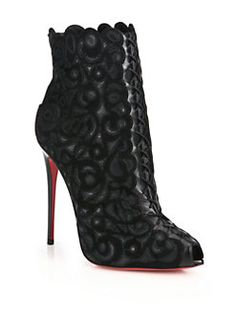 Christian Louboutin - Faolo Studded-Platform Leather Booties ...