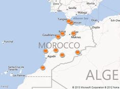 Map of Morocco  Morocco Travel Guide