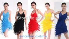 Nuevas mujeres de baile latino Sexy flecos falda borla para mujer Latin Tango Salsa del salón de baile vestido de traje de américa 5 colores liberan el envío