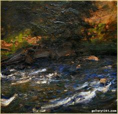 "Gordon Brown   ""Cimarron Creek""   Oil, 12x12"" Contemporary Landscape, Abstract Landscape, Landscape Paintings, Gordon Brown, Impressionism, Colorado, Gallery, Water, Artist"