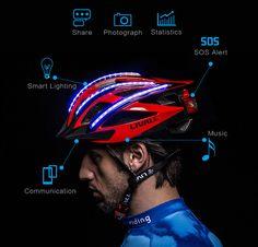 LIVALL Bling Smart Helmet with LED Indicators, gravity sensors, bluetooth speaker, cadence sensor and more.