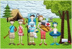Amy Bradley Designs Campers quilt pattern