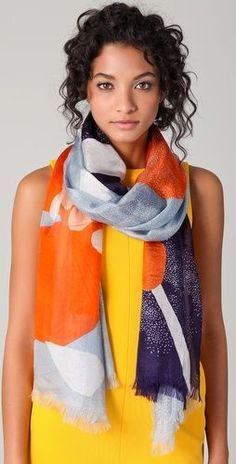 love this scarf and the color combination