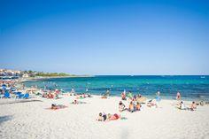Punta Prima beach in Menorca.