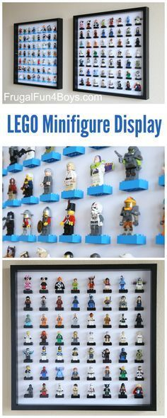 IKEA Frame LEGO Minifigure Display and Storage - Each frame holds 56 LEGO guys. Make one or a few for a huge collection. Check out new & improved Check Lego storage organzier - launching soon on Kickstarter Lego Display, Lego Minifigure Display, Display Case, Deco Lego, Marco Ikea, Ikea Frames, Lego Storage, Storage Ideas, Craft Storage