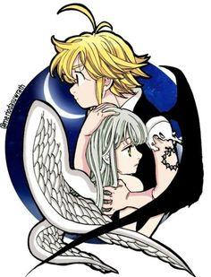 That is so cool and beautiful Elizabeth Seven Deadly Sins, Seven Deadly Sins Anime, 7 Deadly Sins, Cute Anime Pics, Cute Anime Couples, Anime Love, Fan Anime, Otaku Anime, Anime Art
