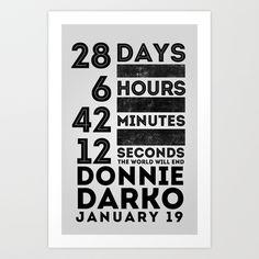 Donnie Darko 28:6:42:12 Art Print by Eric Schroeder - $16.99