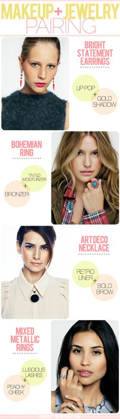 TBD makeup + jewelry pairing #earrings #ring #necklace