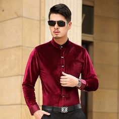 new style 2016 Men's Fashion Floral stitching shirt high quality casual long-sleeve shirt Local tyrants gold S-3XL Dress MT16024