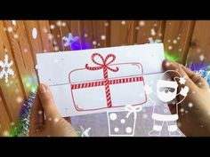 5-minute SURPRISE CARD. Easy Christmas paper fun for kids
