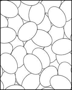 PÅSKE farve: Påskeæg MALEBOGSSIDE