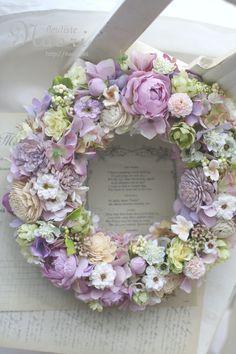 ローズとホップ 木の実のリース Wreath Rose and hops treenuts #wreath #rose #hops #treenuts