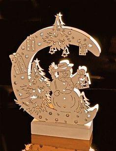 LED Arc lumineux Bonhomme de neige sur Lune Arches Bois Décoration fenêtre Noël • EUR 17,84 Christmas Diy, Merry Christmas, Scroll Saw, Arches, Wood Working, Ornaments, Ideas, Scrappy Quilts, Wood