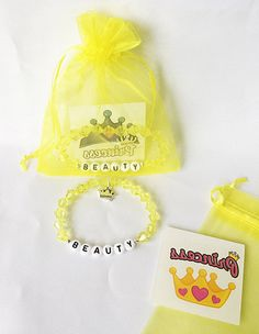 5x BEAUTY and the Beast Bracelets Party Bag Fillers Favours
